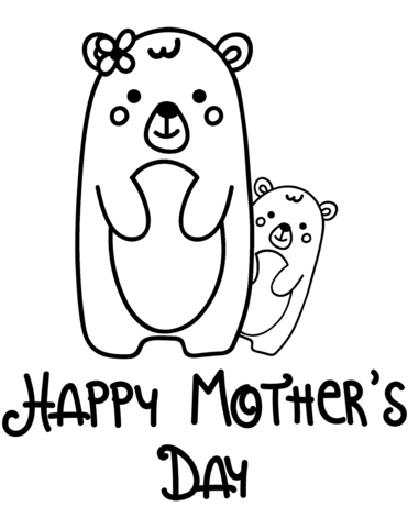 happy mothers day coloring page free printable coloring pages