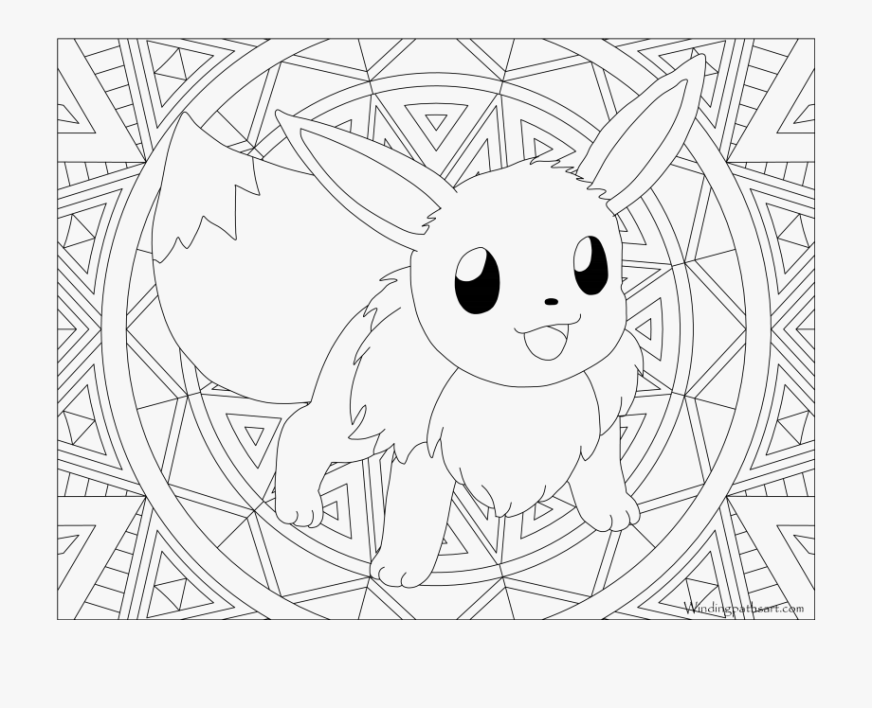 hard pokemon coloring pages eevee pokemon coloring pages