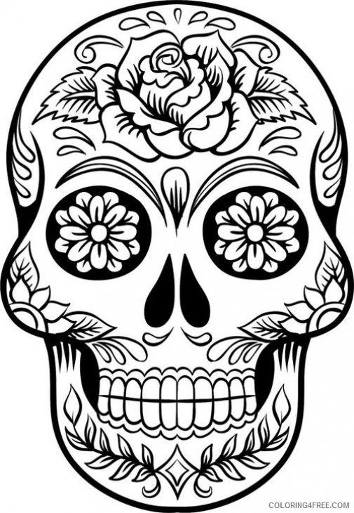 hard sugar skull coloring pages coloring4free
