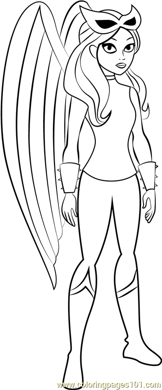 hawkgirl coloring page free dc super hero girls coloring