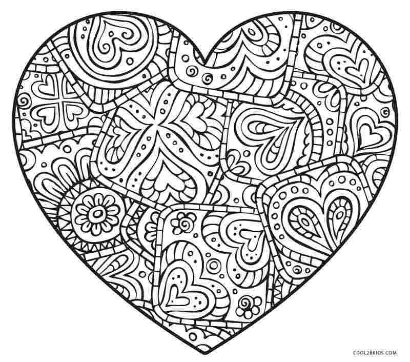 heart coloring pages free printable valentine hearts