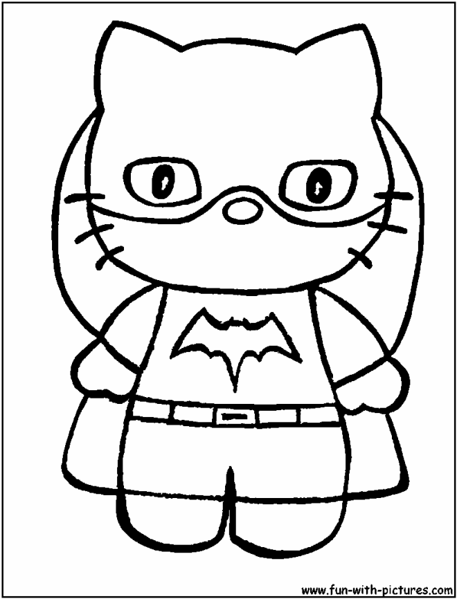 hellokitty batgirl coloring page unduh 4shared clip
