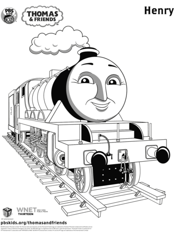 henry from thomas friends coloring page free printable