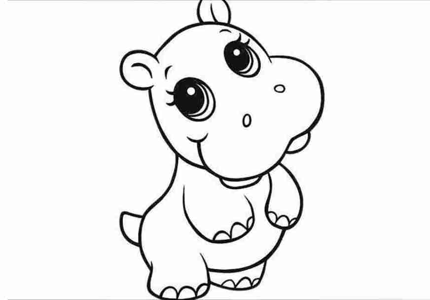 hippo cartoon coloring pages hippopotamus coloring pages