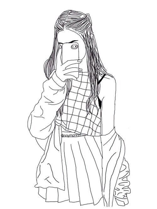 hipster girl coloring pages at getdrawings free for