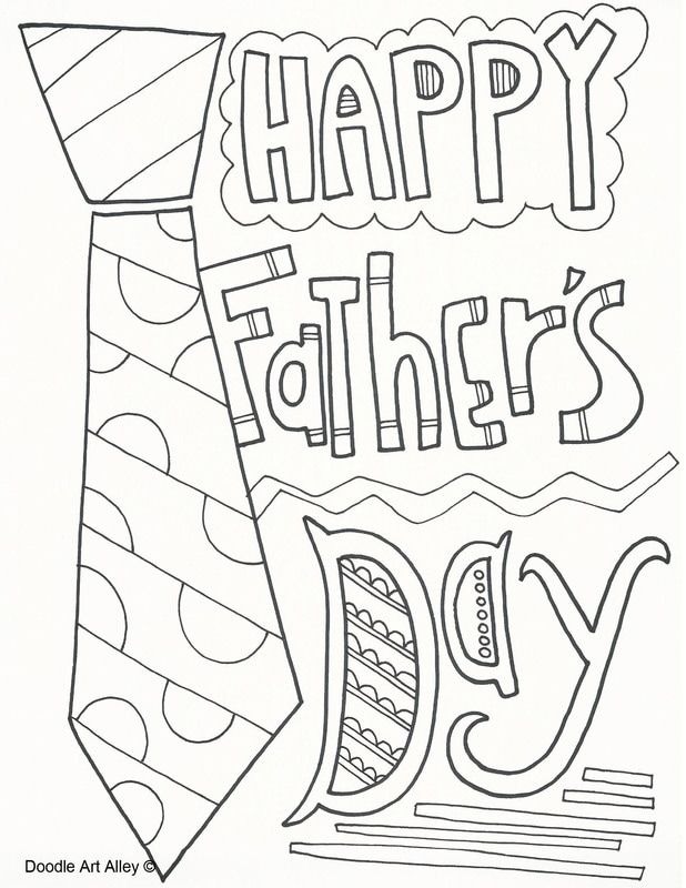 holiday coloring pages from doodle art alley fathers day