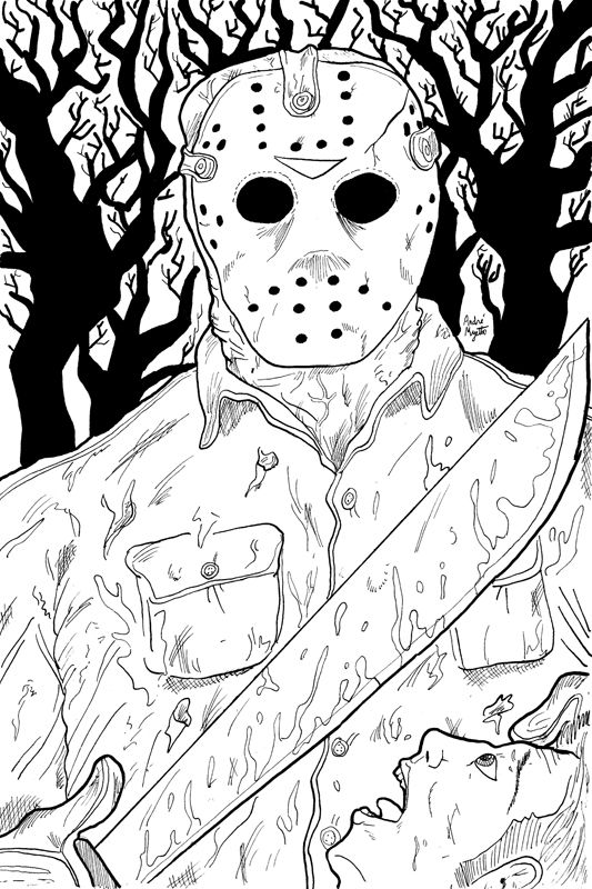 horror coloring pages google search scary coloring pages