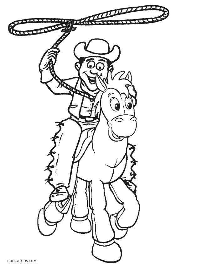 horse and cowboy coloring pages cowboy coloring pages