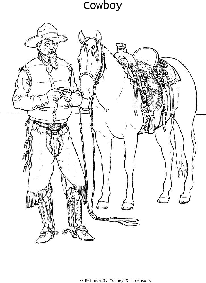 horse and cowgirl coloring pages cowboy coloring pages