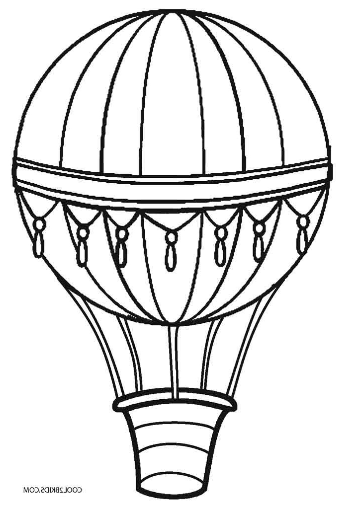 hot air balloon coloring pages crafted here
