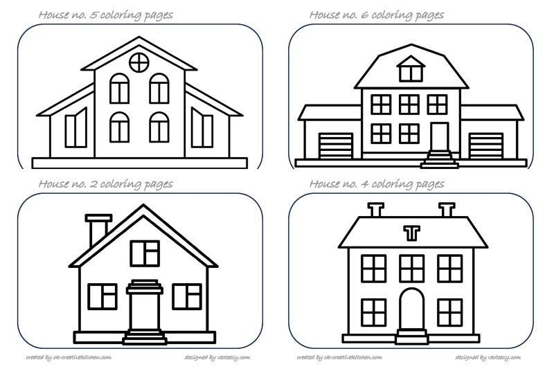 house coloring pages creative kitchen