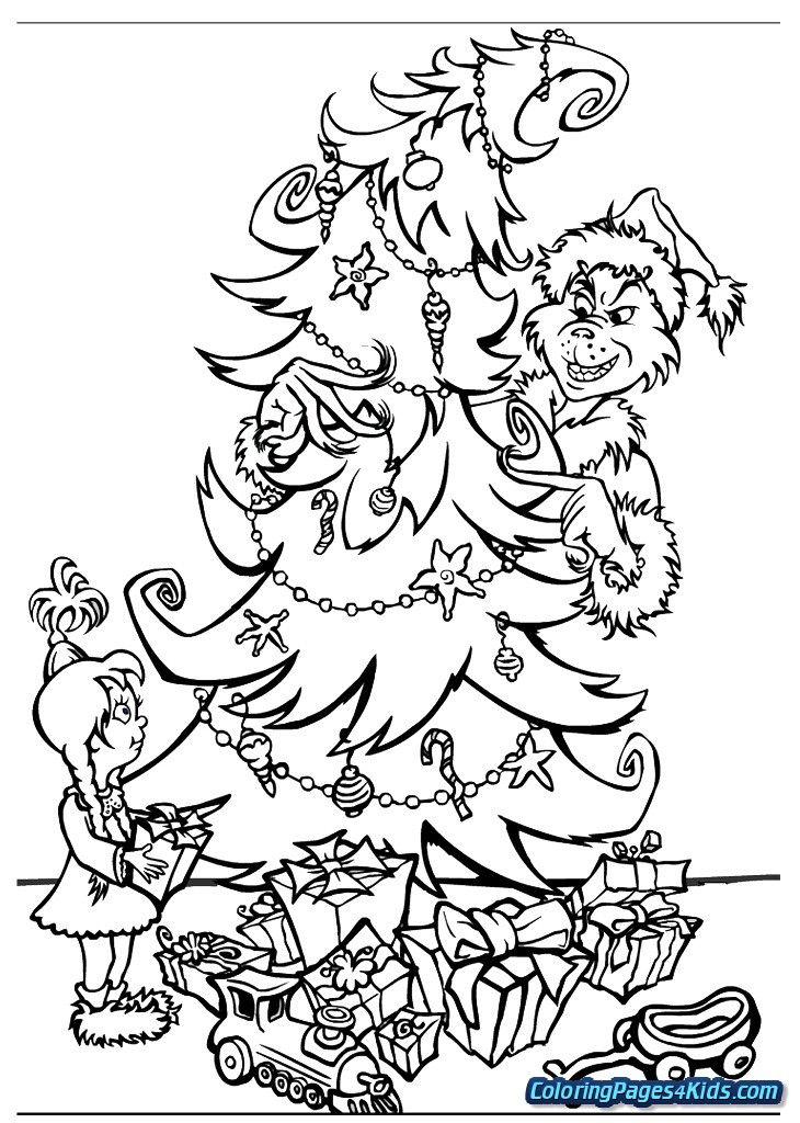 how the grinch stole christmas coloring pages grinch