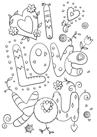 i love you coloring page free printable coloring pages