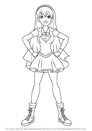 image result for dc super hero girls coloring pages