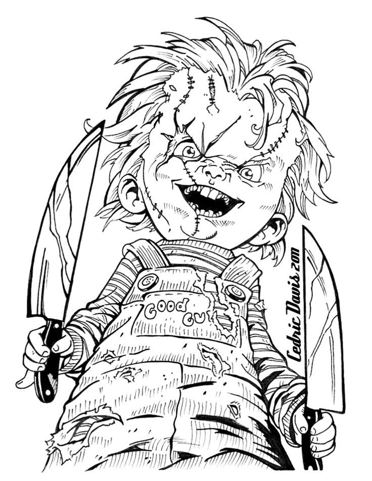 image result for scary horror coloring pages scary