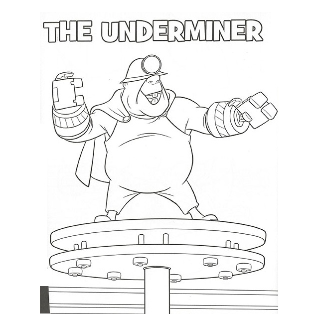 incredibles 2 coloring pages underminer free printable