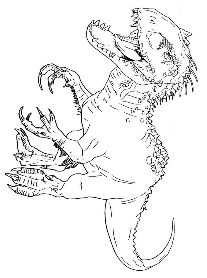 indominus rex coloring page free printable coloring pages