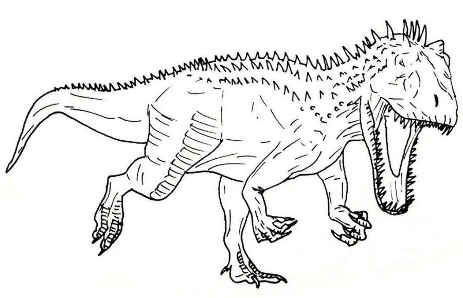 indominus rex jurassic park coloring sheet