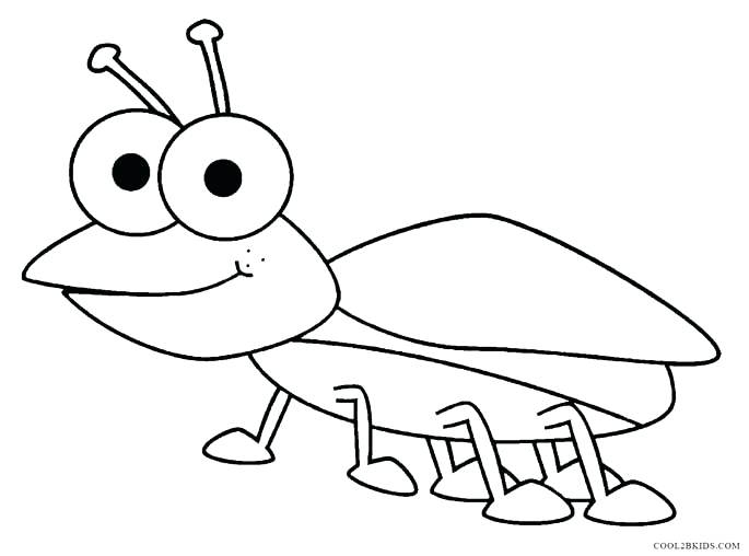 insect bugs coloring pages free fun for kids