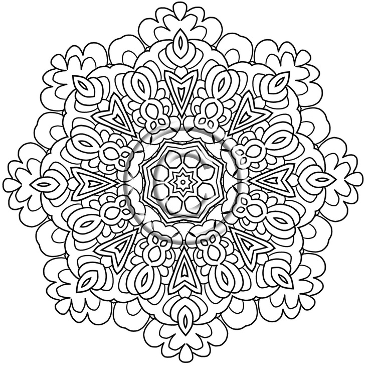 intricate coloring pages the sun flower pages