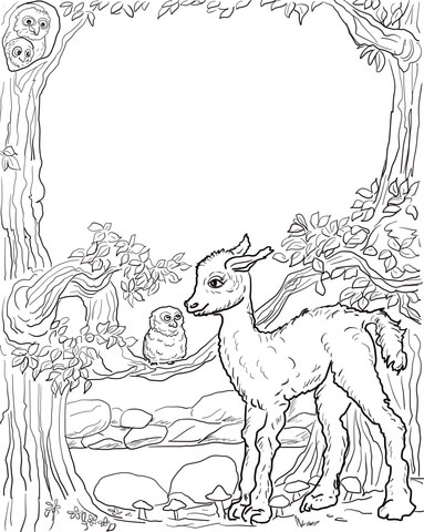 is your mama a llama coloring page free printable