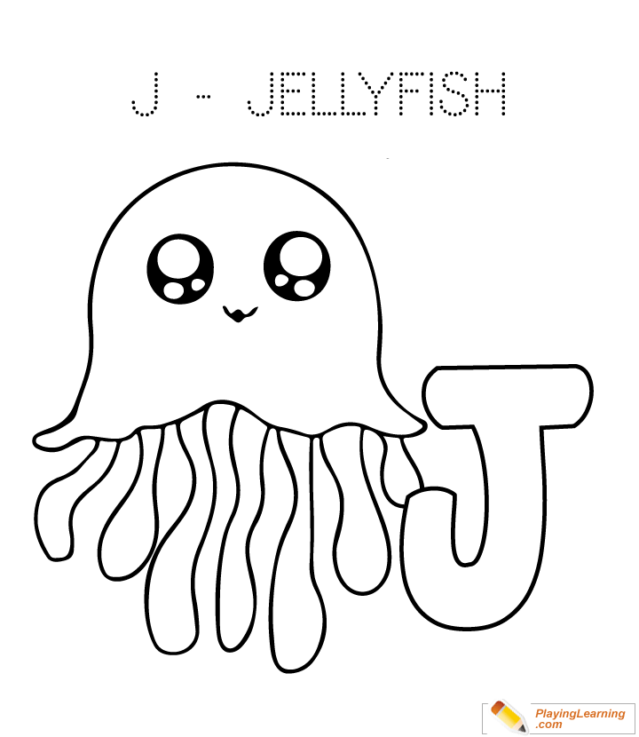 j is for jellyfish coloring page free j is for jellyfish