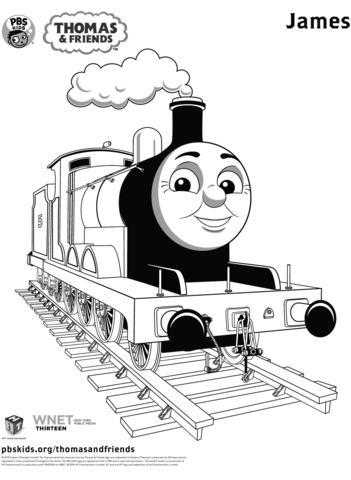 james from thomas friends coloring page free printable