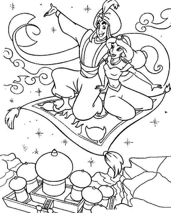 jasmine and aladdin coloring pages at getdrawings free