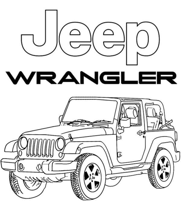 jeep coloring pages printable jeep coloring pages cars