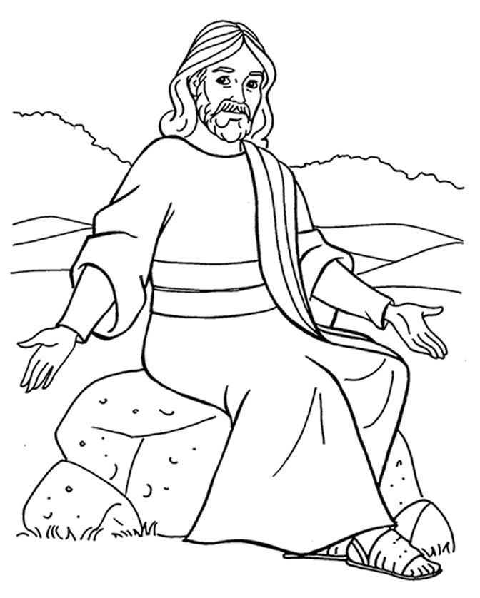 jesus teaching parables coloring pages jesus coloring