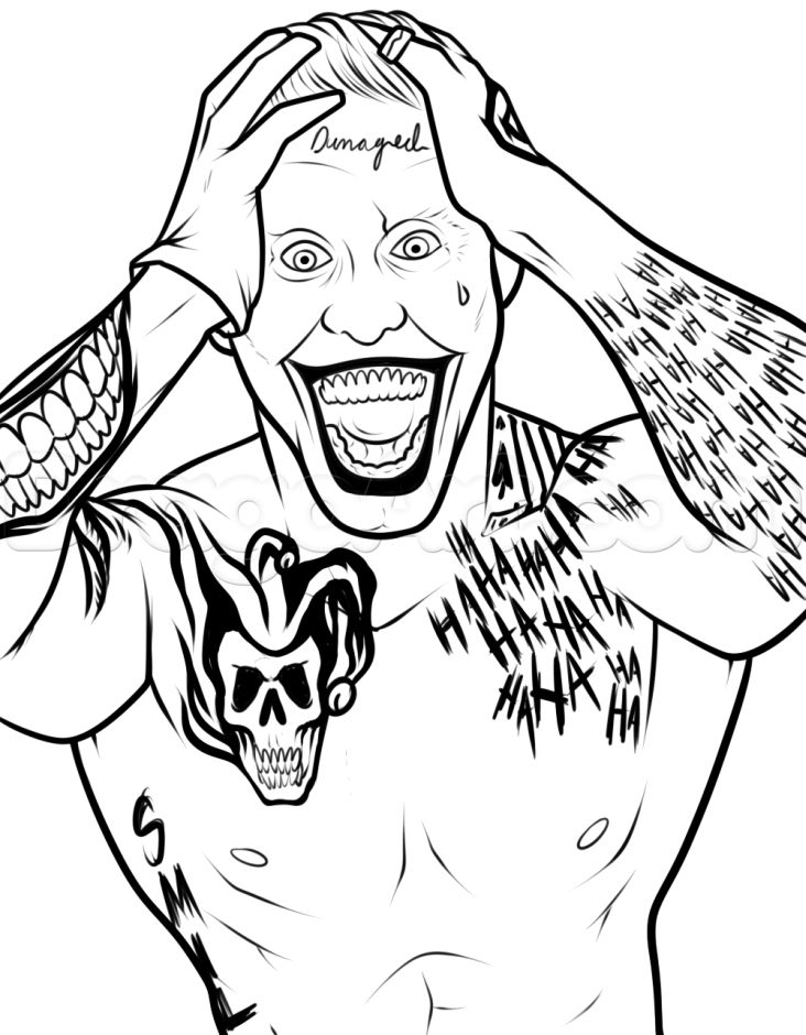 joker from suicide squad coloring pages