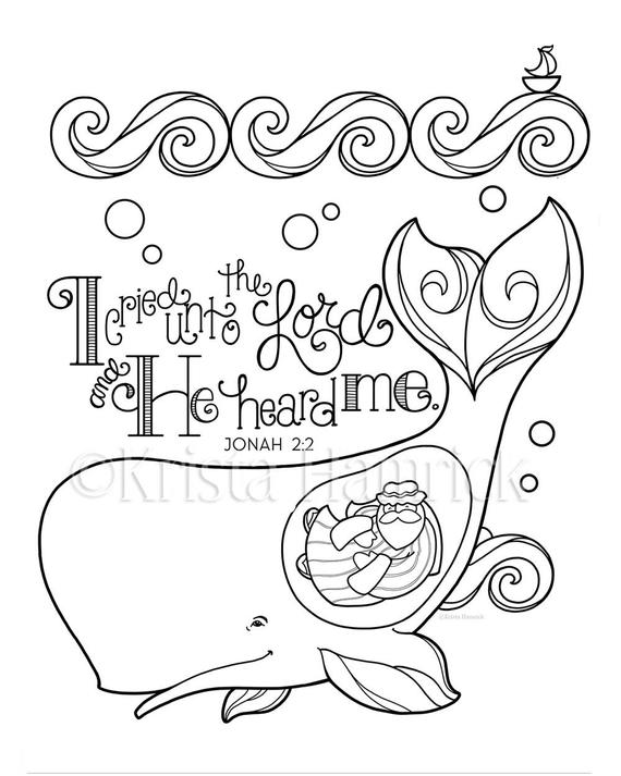 jonah and the whale coloring page 85x11 bible journaling tip in 6x8