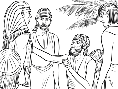 joseph and benjamin coloring page free printable coloring