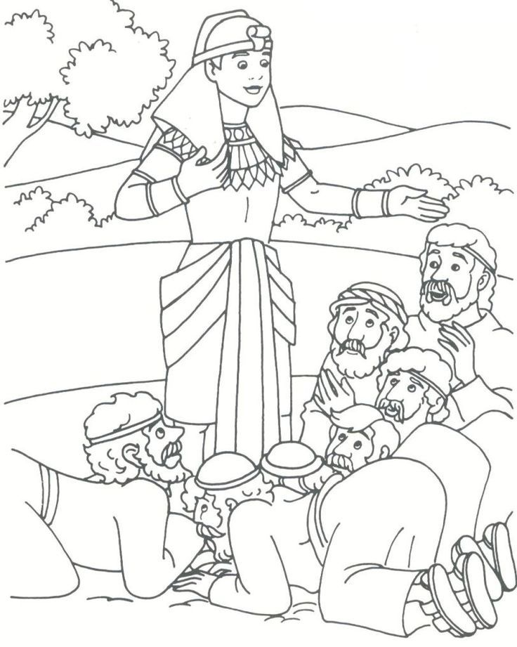 joseph and his brothers coloring page bibel malvorlagen