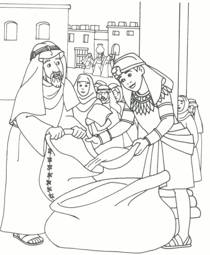 joseph brothers coloring page kid printables sunday