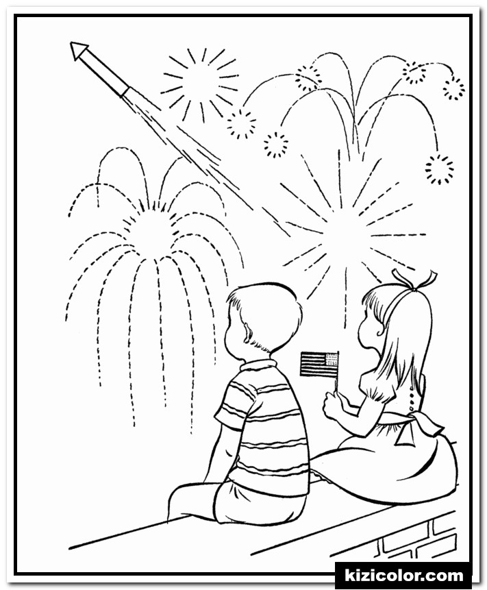 july 4th fireworks kizi free coloring pages for