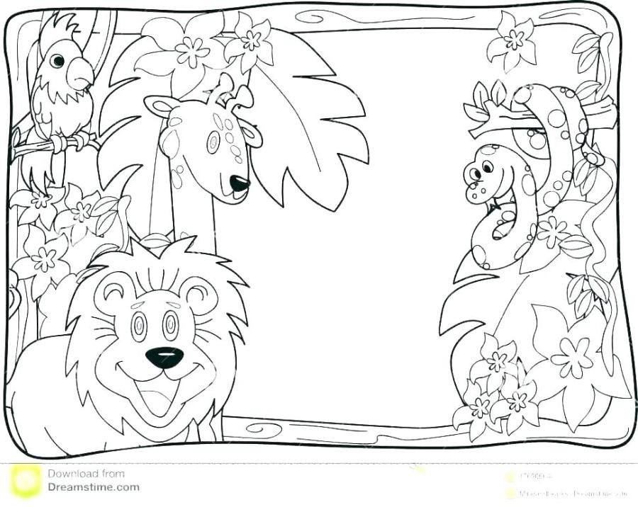 jungle animal coloring pages soidesign