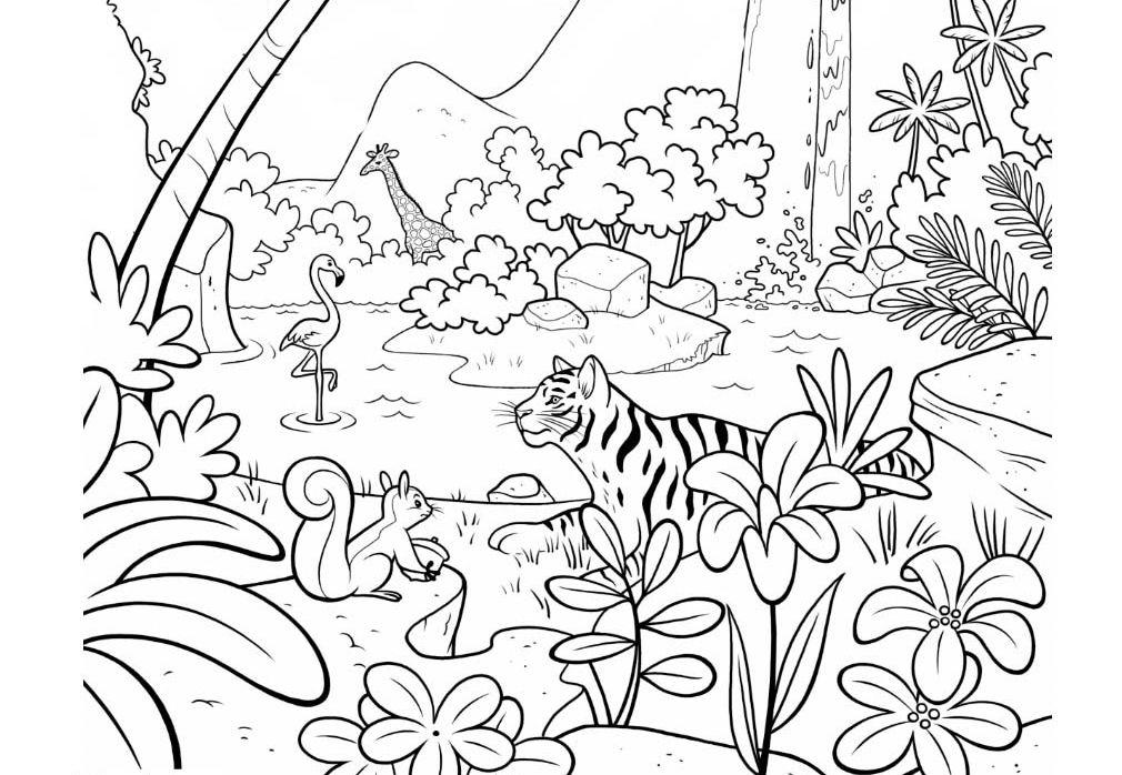 jungle coloring pages jungle coloring pages coloring