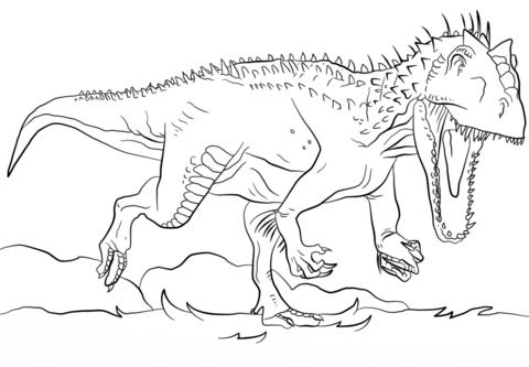 jurassic park indominus rex coloring page free printable