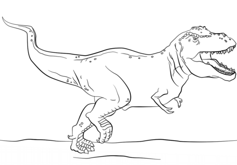 jurassic park t rex coloring page free printable coloring