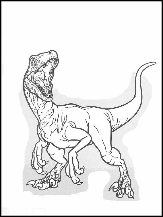 jurassic world coloring pages to print pusat hobi