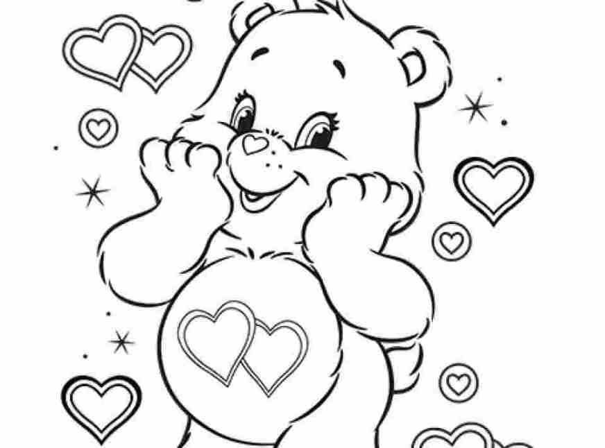just coloring care bear coloring pages online radioa