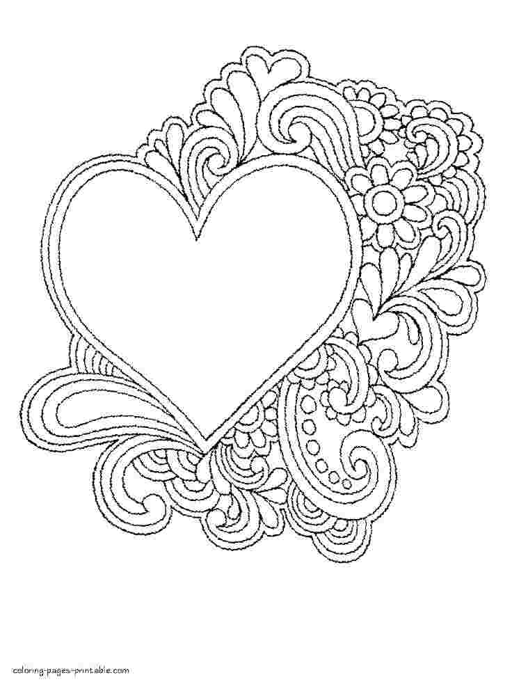 just coloring free coloring pages of hearts and roses