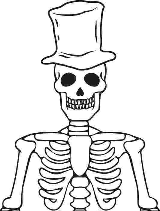 just coloring free printable halloween skeleton coloring