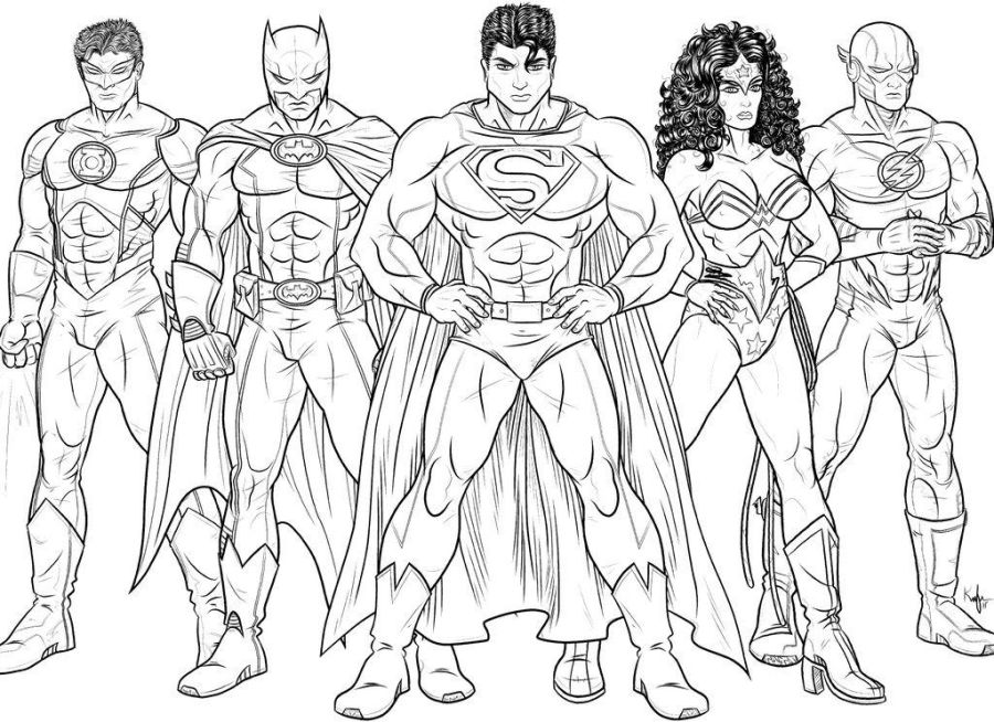 justice league coloring pages superhero coloring pages