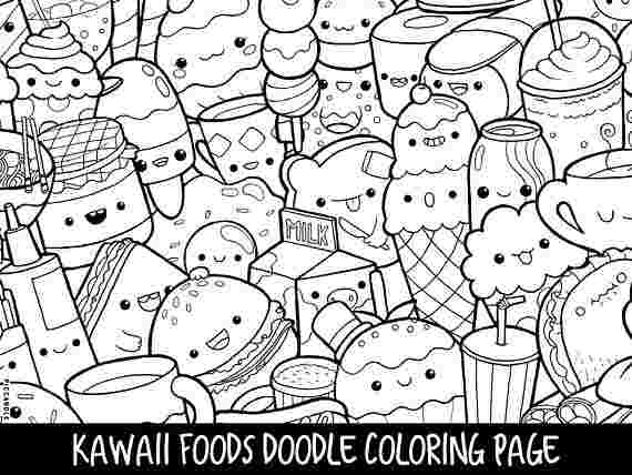kawaii coloring pages cute kawaii food coloring pages