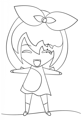 kawaii girl coloring page free printable coloring pages