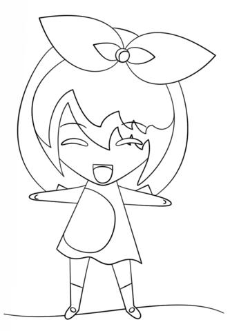 kawaii girl coloring page free printable coloring pages