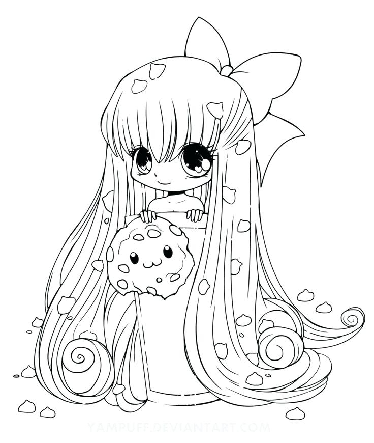 kawaii girl coloring pages free fun for kids