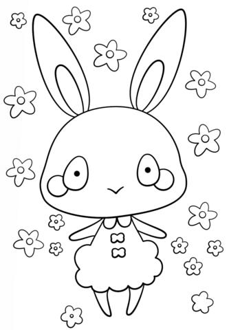 kawaii girl free printable coloring pages for girls and boys